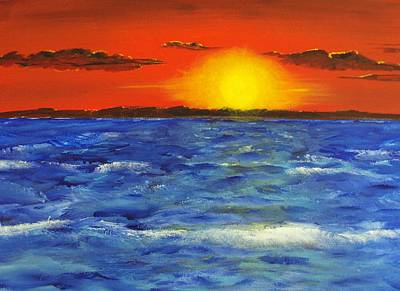 Jersey Shore Sunset Art Print