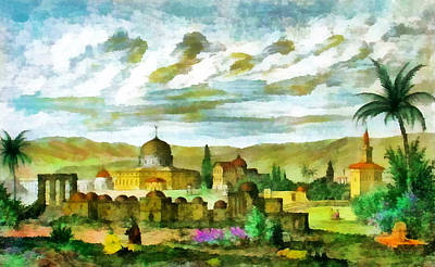 Photograph - Jerusalem 1847 by Munir Alawi