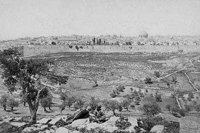 Photograph - Jerusalem 1860 by Munir Alawi