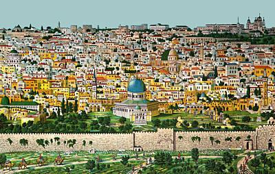Photograph - Jerusalem 1908 by Munir Alawi