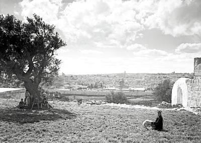 Photograph - Jerusalem 1925 Little Shepherd by Munir Alawi