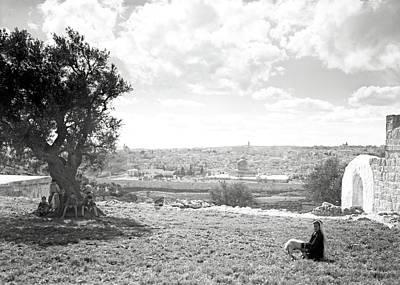 Photograph - Jerusalem 1925 Little Shepherd by Munir Alawi