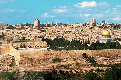 Holy Land Digital Art - Jerusalem 1977 by Munir Alawi