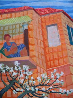 Wall Art - Painting - Jerusalem Balcony by Inge Klimpt