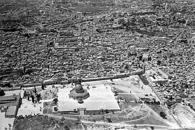 Photograph - Jerusalem Bird Eye View by Munir Alawi