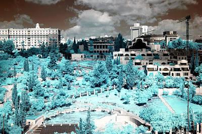 Photograph - Jerusalem City Infrared by John Rizzuto