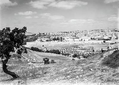 Photograph - Jerusalem City View 1940 by Munir Alawi