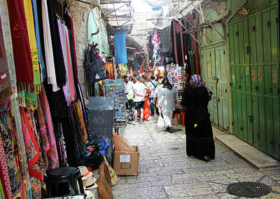 Photograph - Jerusalem Closed Stores by Munir Alawi
