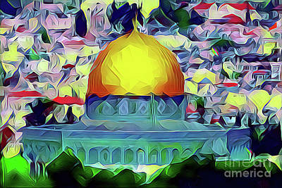 Painting - Jerusalem Dome Of The Rock by S Art