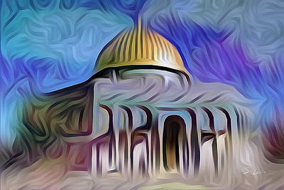 Photograph - Jerusalem Dome Of The Rock_5 Digital Painting by S Art