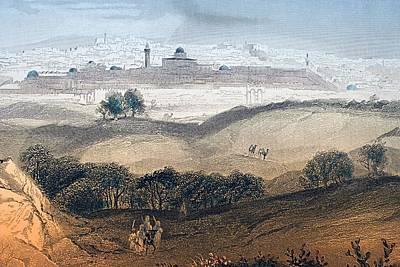 Jerusalem Engraved By A.h. Payne After Art Print
