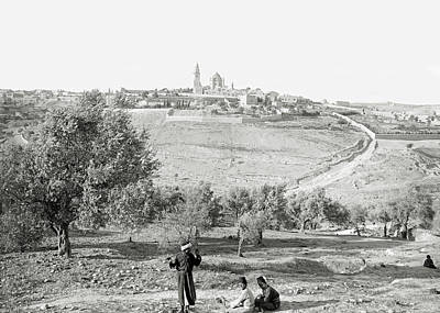 Photograph - Jerusalem Fields 1898 by Munir Alawi