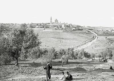 Photograph - Jerusalem Fields 1898 by Munir Alawi