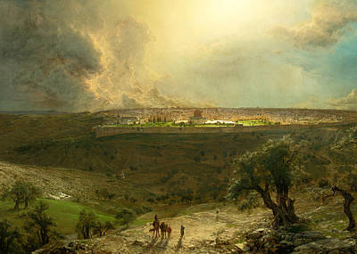 Photograph - Jerusalem From The Mount Of Olives 1870 by Munir Alawi