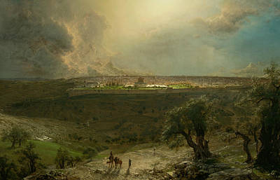 Jerusalem From The Mount Of Olives Print by Frederic Edwin Church