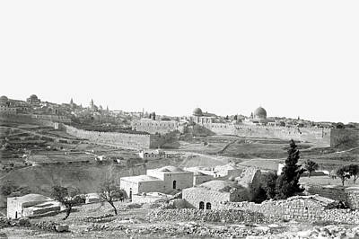 Photograph - Jerusalem From The South 1898 by Munir Alawi