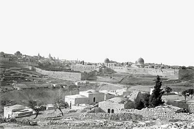 Photograph - Jerusalem From The South 1898 by Munir Alawi