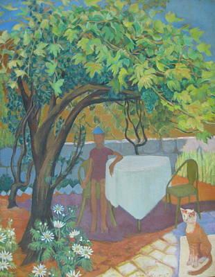 Wall Art - Painting - Jerusalem Grape Arbor by Inge Klimpt