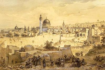 Photograph - Jerusalem In 1857 by Munir Alawi
