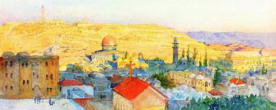 Photograph - Jerusalem In 1899 by Munir Alawi