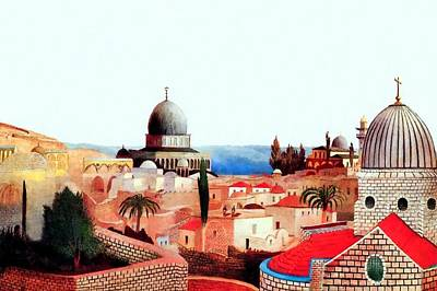 Painting - Jerusalem In 1905  by Munir Alawi