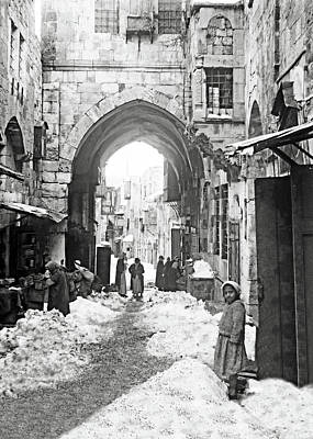 Photograph - Jerusalem In Snow 1921 by Munir Alawi
