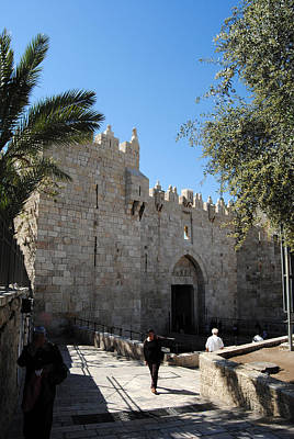 Photograph - Damascus Gate - Jerusalem by Isam Awad