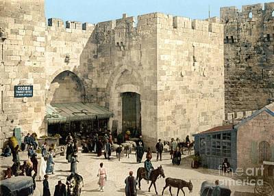Photograph - Jerusalem: Jaffa Gate by Granger
