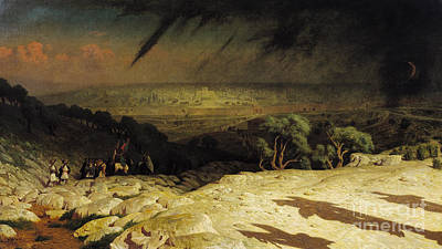 Saviour Painting - Jerusalem by Jean Leon Gerome