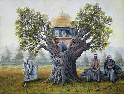 Palestine Painting - Jerusalem by Jihad