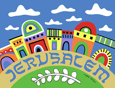 Painting - Jerusalem by Mike Segal