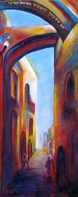 Painting - Jerusalem Of Gold by Miki  Sion