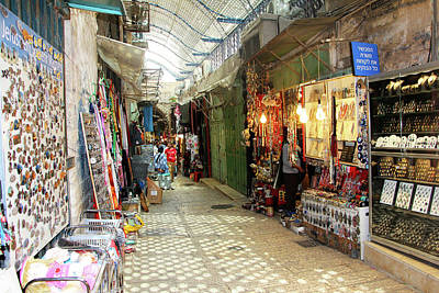 Photograph - Jerusalem Old City Shopping by Munir Alawi