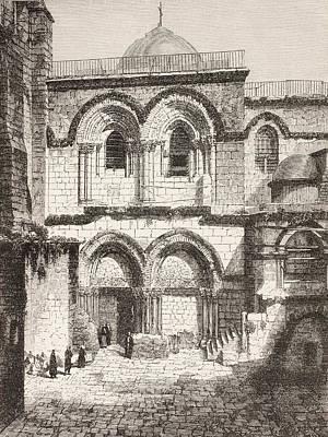 Jerusalem, Palestine. Church Of The Art Print