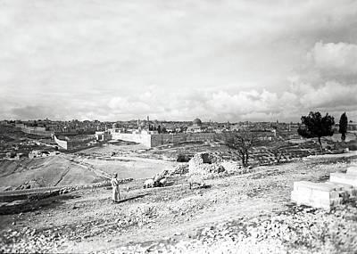 Photograph - Jerusalem Shepherd 1934 by Munir Alawi