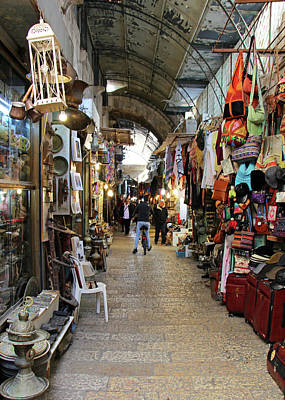 Photograph - Jerusalem Shops by Munir Alawi