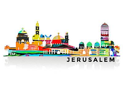 Photograph - Jerusalem Skyline by Munir Alawi