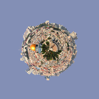 Old Jewish Area Photograph - Jerusalem-small Planet by Galina Gutarin
