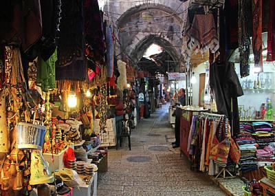 Photograph - Jerusalem Souvenir Shops by Munir Alawi