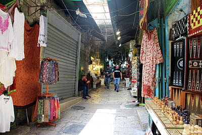 Photograph - Jerusalem Stores by Munir Alawi