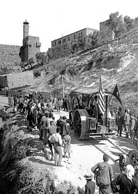 Photograph - Jerusalem Streamroller 1911 by Munir Alawi