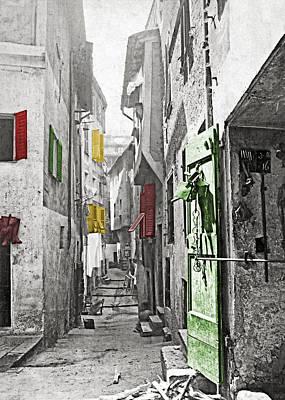 Photograph - Jerusalem Street 1904 by Munir Alawi