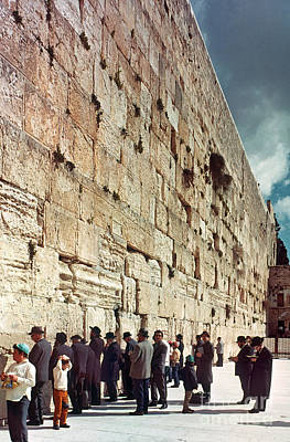 Photograph - Jerusalem  Wailing Wall - To License For Professional Use Visit Granger.com by Granger