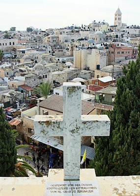 Photograph - Jerusalem White Cross by Munir Alawi