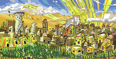 Painting - Jerusalem by Yom Tov Blumenthal