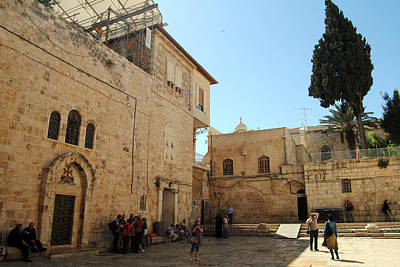 Photograph - Parvis Of The Church Of The Holy Sepulchre 2 - Jerusalem by Isam Awad