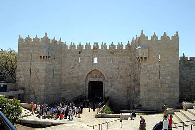 Photograph - Damascus Gate 2 - Jerusalem by Isam Awad