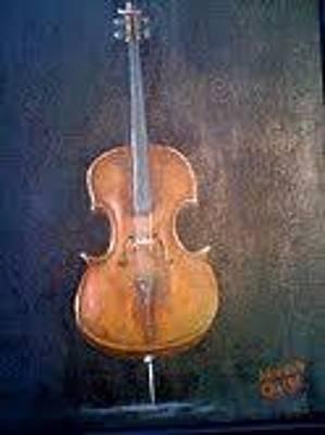 Chello Painting - Jeslians Chello by Carlos Di Cesare