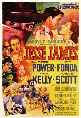 Theatre Mixed Media - Jesse James 1939 by Mountain Dreams