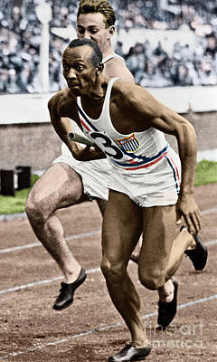 Photograph - Jesse Owens by Granger